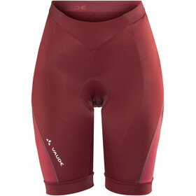 VAUDE Advanced II fietsbroek kort Dames rood